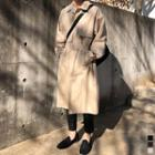 Belted Flap Single-breasted Trench Coat