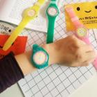 Fruit Print Silicone Strap Watch