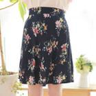 Floral Flare Miniskirt