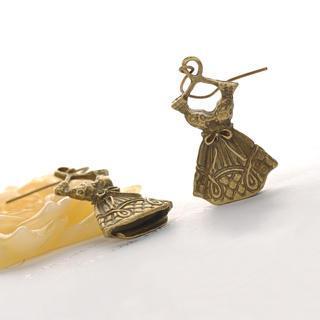 Little Dress Earrings  Copper - One Size