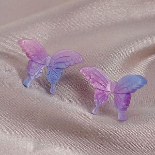 Acrylic Butterfly Earring 1 Pair - Acrylic Butterfly Earring - Color Chosen At Random - One Size