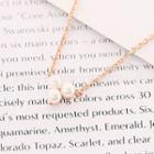 Faux Pearl Pendant Necklace Rose Gold - One Size