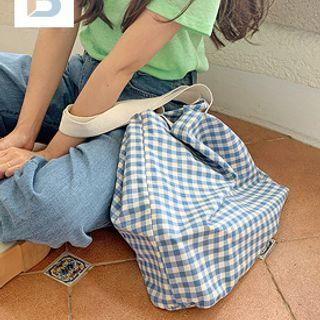 Check Cotton Shopper Bag