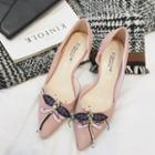 Embellished Dragonfly Pointed Flats