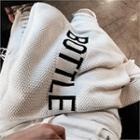Lettering Knit Shoulder Bag