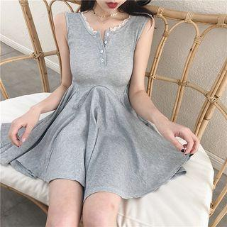 Asymmetric Mini Tank Dress