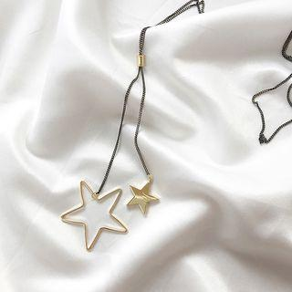 Alloy Star Pendant Necklace 1 Pc - Gold - One Size