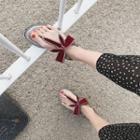 Rhinestone Ribbon Slippers