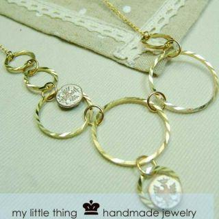 Glamorous Golden Circle Necklace