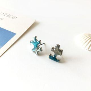 Alloy Puzzle Earring