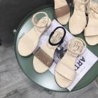 Plain Sandals/ Transparent Strap Sandals
