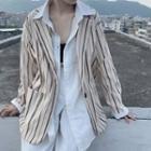Striped Blazer Striped Blazer - Almond - One Size