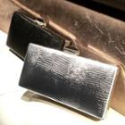 Embossed Faux Leather Evening Clutch