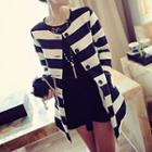 Long Sleeved Striped Jacket