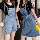Short-sleeve T-shirt / Denim Jumper Shorts / Denim Jumper Dress