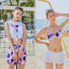 Set: Bikini + Sleeveless Printed Top