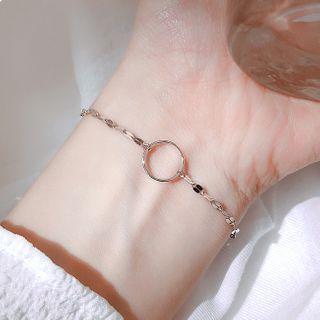 925 Sterling Silver Hoop Bracelet 925 Silver - As Shown In Figure - One Size