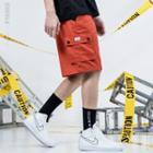 Elastic Waist Cargo Shorts