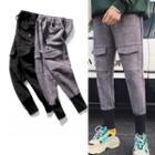 Panel Drawstring-waist Sweatpants