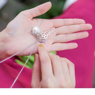 Bead Key Pendant Necklace