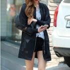 Mesh-panel Zip Jacket Black - One Size