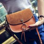Faux Leather Saddle Bag