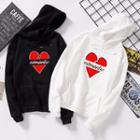 Couple Matching Heart Print Hoodie