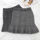 Patterned Knit Mini Skirt