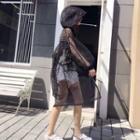 Mesh Long Hooded Jacket