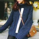 Panel Asymmetric Knit Top