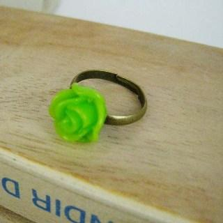 Green Rose Copper Ring Copper - One Size