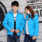 Padded Hooded Zip Couple Matching Jacket