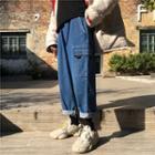 Side Pocket Wide-leg Jeans