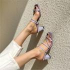 Block-heel Colored Strappy Sandals