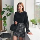 Lace-collar Bell-sleeve Top