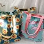 Printed Shopper Tote Bag