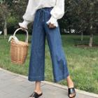 Drawstring Waist Wide-leg Jeans