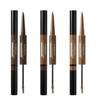 Macqueen - My Colouring Dual Eyebrow Pencil & Browcara - 3 Colors #03 Light Brown