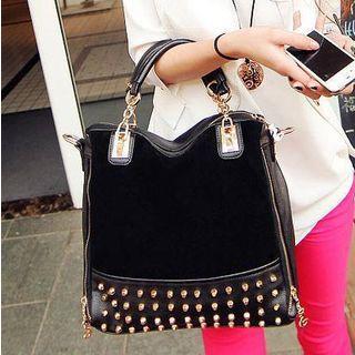 Studded Handbag With Shoulder Strap