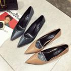 Patent Panel Pointy-toe Pumps