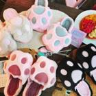 Fluffy Bear Paw Slippers (various Color)