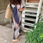 Patterned Maxi Boho Dress