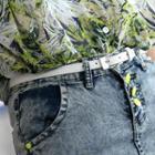 Faux Leather Slim Belt