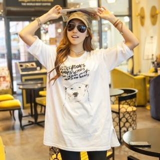 Bear-print T-shirt