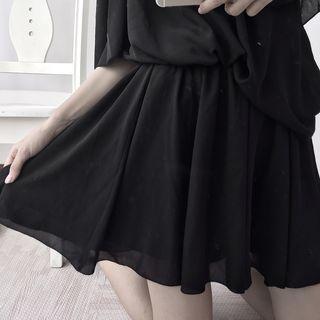 A-line Chiffon Jumper Skirt