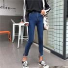Cropped Slit Skinny Jeans