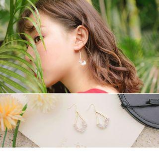 Shell Drop Earrings Gold - F