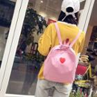 Canvas Heart Printed Backpack