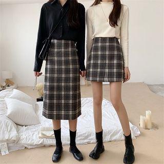 Pleated A-line Skirt / Midi Skirt