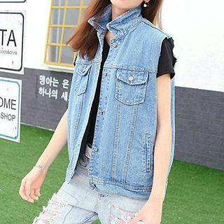 Loose Fit Denim Vest